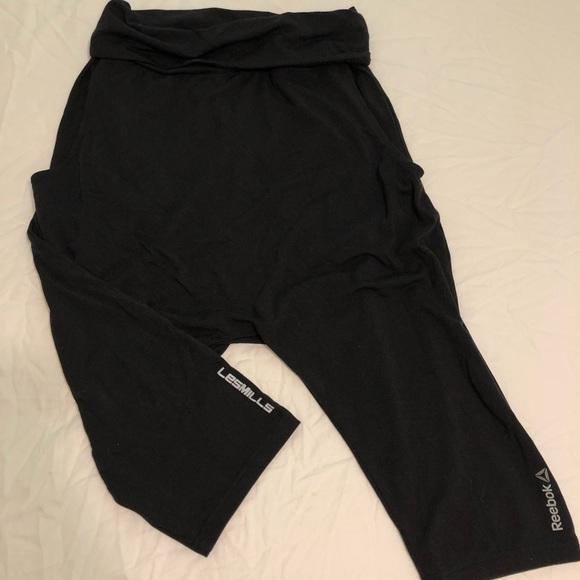 ce269fabaef56 Reebok Pants | Les Mills Drop Crotch Capris | Poshmark